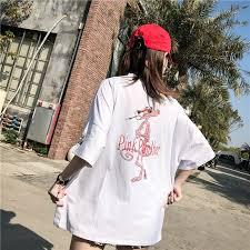 <b>2018</b> summer new fashion pink panther <b>cartoon printed t shirts</b> $15.00