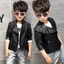 Fashion Kids <b>Leather Jacket Girls PU Jacket</b> Children Motorcycle ...