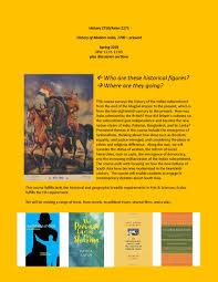 HIST 2750 <b>History of Modern India</b>, 1700-present   History Cornell ...