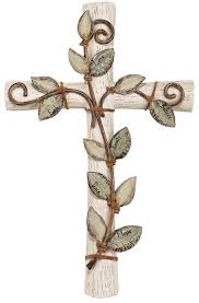 iron wall cross love: wall decor home vine cross family faith love hope peace believe words leaves nature