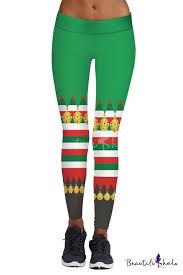 New <b>Stylish Christmas</b> Jingle Bell Pattern <b>Elastic Waist</b> Skinny ...