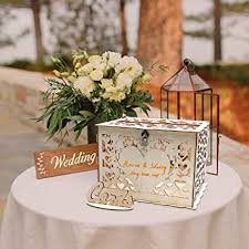 O-heart DIY Wood Wedding Card Box, Rustic Gift Box ... - Amazon.com
