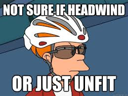 Not sure if headwind or just unfit - road bike fry - quickmeme via Relatably.com