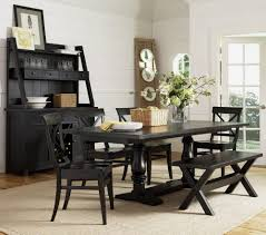 wood and black dining table