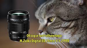 <b>Объектив M</b>.<b>Zuiko Digital ED 25mm</b> 1:1.2 PRO - обзор и тест ...