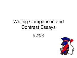 writing comparison contrast