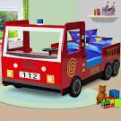 Lit enfant camion pompier