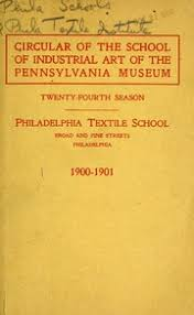 pennsylvania museum and school of industrial art textile school catalog 1934 1935