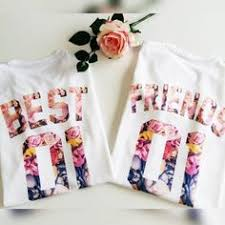 """Best Friend"" Matching <b>Flower</b> Shirts in 2019 