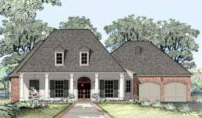 Michael Campbell Design  LC   Lafayette  Louisiana   Acadian House    Acadian House Plan
