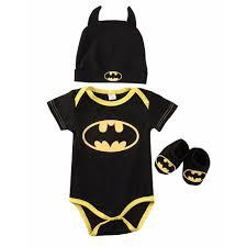 3Pcs <b>Newborn Baby</b> Boy Batman Romper Bodysuit+Shoes+Hat ...