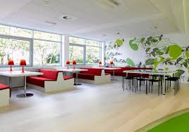 fresh and green inteior ikea commercial office by using modern wooden floor that decorated by some red chait and also wooden furniture seems so natural business office design ideas home fresh