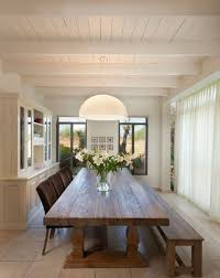 long wood dining table:  long table and sliding doors view