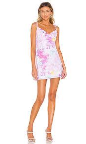 RESA Teenie <b>Mini</b> Dress in <b>Cotton</b> Candy Tie Dye | REVOLVE