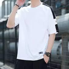 MUBO Short-sleeved t-shirt <b>men's summer</b> cotton top <b>loose trend</b> ...