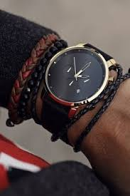 Chrono <b>Gold</b> Black Leather | Кожаные браслеты, <b>Часы</b>-браслет ...