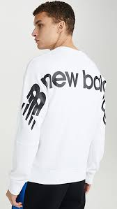 New Balance <b>Sport Style Optiks Crew</b> Neck Sweatshirt | EAST DANE