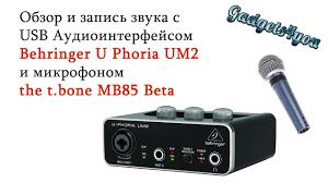 USB <b>Аудиоинтерфейс Behringer U Phoria UM2</b> и микрофон the t ...