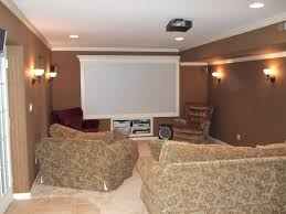 attractive basement with wall sconces and recessed lights basement lighting options