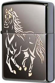 28645 <b>Зажигалка Zippo Running</b> Horse, Black Ice