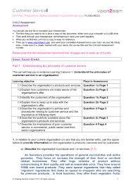 customer relation unit solving assessment