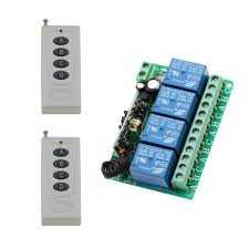 <b>DC12V 10A 4CH</b> Radio Controller RF Wireless Relay Remote ...