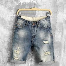 <b>Summer denim shorts male</b> jeans men jean shorts bermuda skate ...