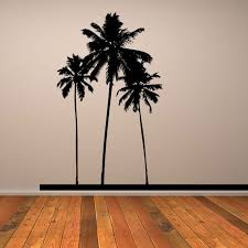 palm tree wall stickers: palm tree sticker dctop  popular pvc waterproof three black font b palm b font font b trees b