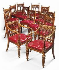 oak dining set french gothic room magnificent set of  carved george iv oak dining chairs british neo got
