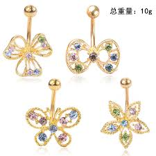 Rose 2020 new product umbilical <b>ring set</b> belly button butterfly ...