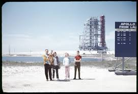 my family in front of apollo on the launch pad  my family in front of apollo 13 on the launch pad 1970