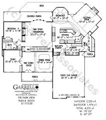 Ranch House Floor Plans  Traditional House Plan First Floor D    One Story House Plans   Rear View