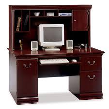 bush birmingham executive collection computer desk with hutch wc26620 03k bush saratoga computer desk