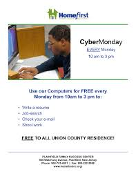 job search homework homefirst plainfield family support center homefirst cyber mondays computer usage to access the internet do homework check emails job search updating