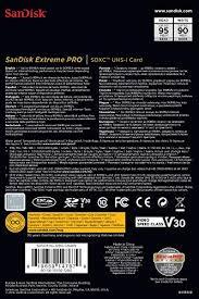 <b>SanDisk</b> 256GB Extreme PRO <b>SDXC</b> UHS-I Card (SDSDXXG-<b>256G</b> ...