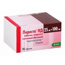 <b>Лориста НД</b> таблетки п.п.о. <b>100мг</b>+25мг 90 шт. купить по низким ...