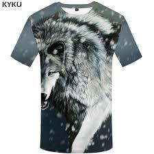 <b>KYKU Wolf T</b> Shirt Snow Clothing Animal Tshirt Clothes Tees Shirts ...