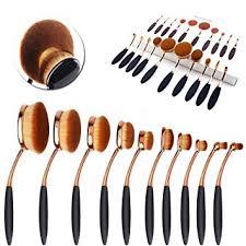 CDC® Golden Black Oval 10PCs Pro <b>Cosmetic Makeup Face</b> ...