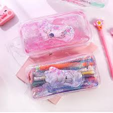 Kawaii Cat Claw Girl <b>Pencil Case Quicksand Pencil Case</b> Sequin ...