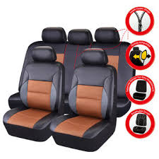 <b>CAR PASS</b> 11 Pieces Leather <b>Universal Car Seat</b> Covers Set