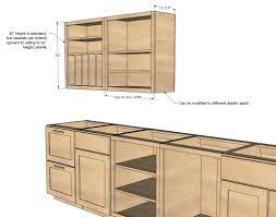 ideas standard kitchen cabinet