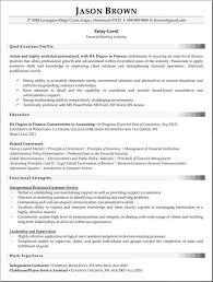 entry level finance resume resume badak resume example entry level