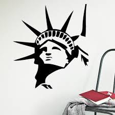 liberty bedroom wall mural: statue of liberty wall stickers  new york wall decor art decals pvc vinyl murals home