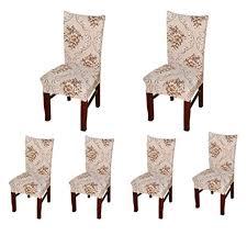 <b>4 pcs Straight</b> Stretch <b>Chair Seat</b> Cover Protector Dining Room ...