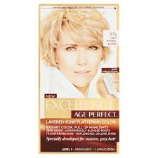 L'oreal Paris Age Perfect <b>Permanent Hair Color</b>, <b>9n</b> Light Natural ...