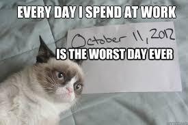Bad Day Grumpy Cat memes | quickmeme via Relatably.com