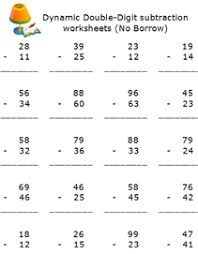Two digits number subtraction math worksheets, free printable 2nd ...free elementary school subtraction math worksheets, online math tool