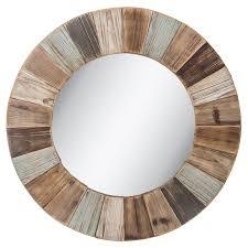 mirror wall decor circle panel: round wood wall mirror  round wood wall mirror