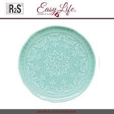 <b>Закусочная тарелка Abitare</b> ментол, D <b>19</b> см, фарфор, Easy Life ...