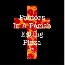 Pastors In A Parish Eating Pizza